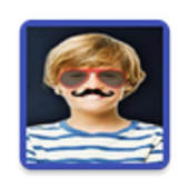 Funny face photo maker and editor icon