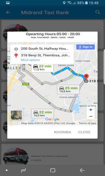 Khomba Taxi App apk screenshot