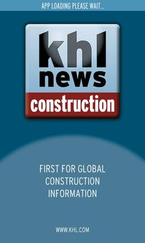 KHL Global Construction News poster