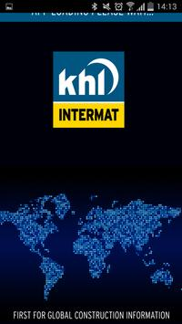 KHL News from Intermat 2015 poster