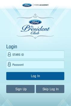 Ford President Club poster