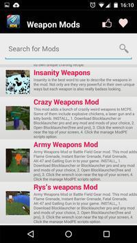 Weapon MOD For MCPE! screenshot 5