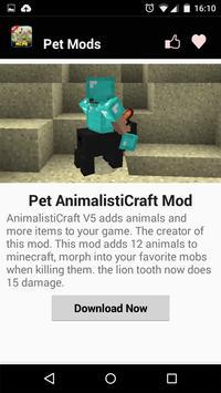 Pets MOD For MCPE! apk screenshot