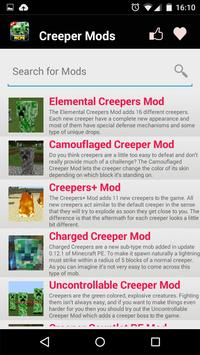 Creeper MOD For MCPE! apk screenshot