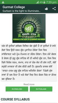 Gurmat College Delhi poster