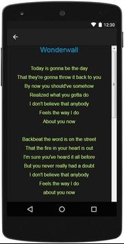 Oasis Top Lyrics screenshot 3