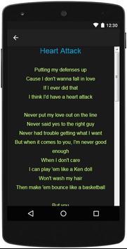Demi Lovato Top Lyrics screenshot 10