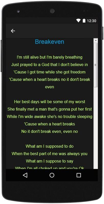 The Script Top Lyrics for Android - APK Download