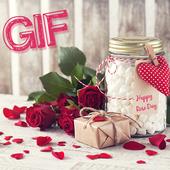 Rose Day GIF : Valentine Day GIF icon