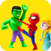 Superhero Fun Kids Stop Motion icon