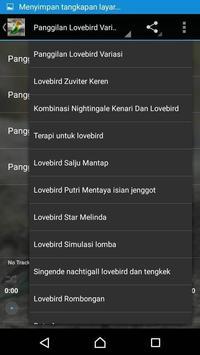 Master Kicau Lovebird Ngekek apk screenshot