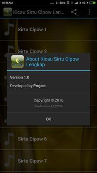 Kicau Sirtu Cipow Lengkap apk screenshot