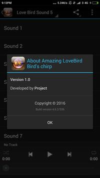 Amazing LoveBird Birds chirp screenshot 11