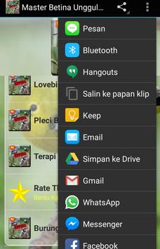 Master Betina Unggulan apk screenshot