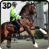 Mounted Police Horse Rider icon