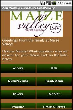 Maize Valley Farm Market and W poster
