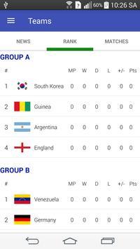 U20 World Cup Korea Rep. 2017 apk screenshot