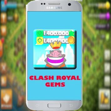 FREE Gems Clash Royale-SIMULATOR 💎 poster