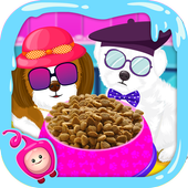 Kitty & Puppy Food Game-Feed Cute Kitty & Puppies icon