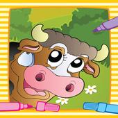 Farm Animal Villege Color Book icon