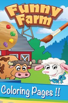 Farm Animal Villege Color Book poster