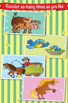 Farm Animal Villege Color Book screenshot 13