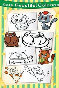 Cute Pet Kit Cat Dog Coloring screenshot 9