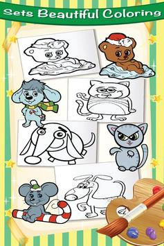Cute Pet Kit Cat Dog Coloring screenshot 2