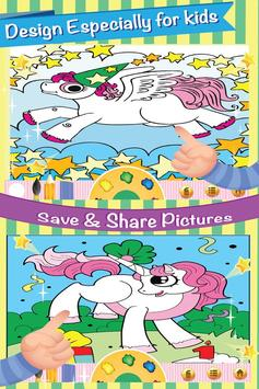 Little Pony Coloring Book Page screenshot 5