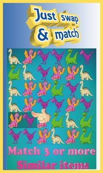 Dino Boom - Free Match 3 Puzzle Game poster