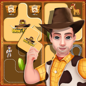 Cowboy Hide and Seek : Brain Training Puzzle Game icon