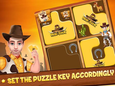 Cowboy Hide and Seek : Brain Training Puzzle Game poster