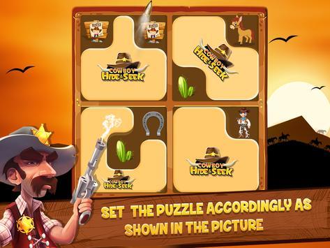 Cowboy Hide and Seek : Brain Training Puzzle Game screenshot 13