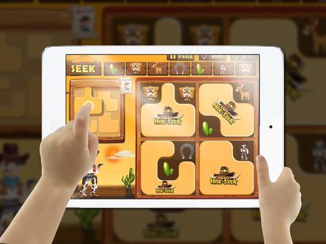 Cowboy Hide and Seek : Brain Training Puzzle Game screenshot 2