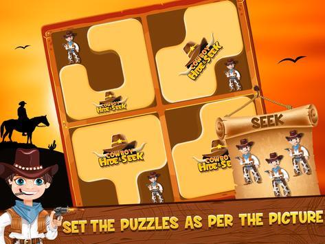 Cowboy Hide and Seek : Brain Training Puzzle Game screenshot 4