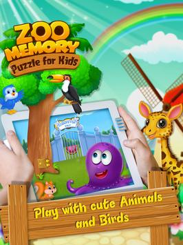 Zoo Memory Puzzle For Kids poster