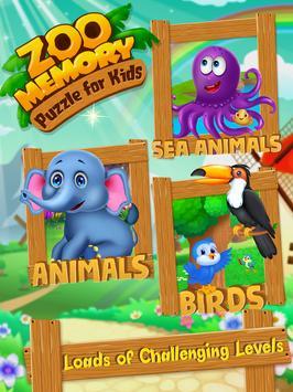 Zoo Memory Puzzle For Kids screenshot 5