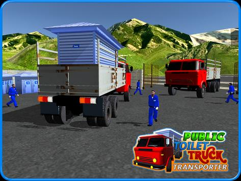 Public Toilet Cargo Truck 3D apk screenshot