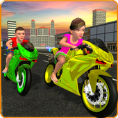 Kids MotorBike Rider Race 3D icon