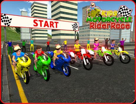 Kids MotorBike Rider Race 3D screenshot 5