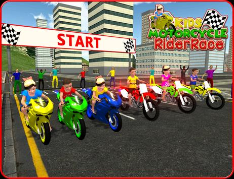 Kids MotorBike Rider Race 3D screenshot 5