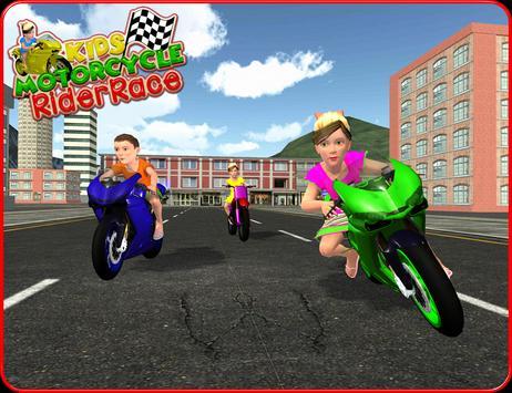 Kids MotorBike Rider Race 3D screenshot 6