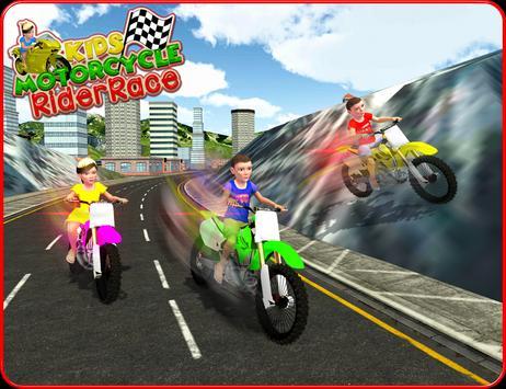Kids MotorBike Rider Race 3D screenshot 7