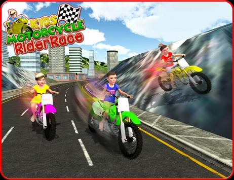 Kids MotorBike Rider Race 3D screenshot 7