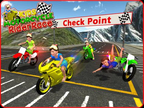 Kids MotorBike Rider Race 3D screenshot 13