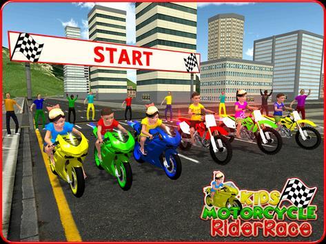 Kids MotorBike Rider Race 3D screenshot 10