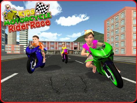Kids MotorBike Rider Race 3D screenshot 11