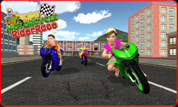 Kids MotorBike Rider Race 3D screenshot 1