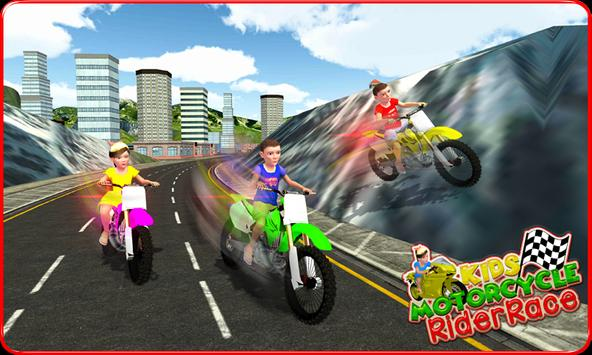 Kids MotorBike Rider Race 3D screenshot 2