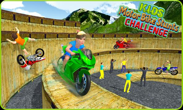 Kids MotorBike Roof Top Stunts apk screenshot